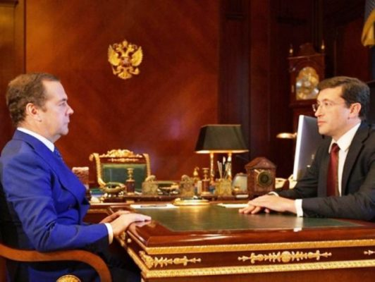 Встреча Дмитрия Медведева и Глеба Никитина