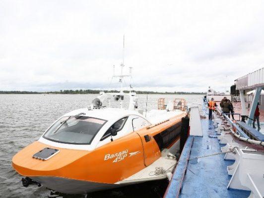 Глеб Никитин дал старт навигации судов на подводных крыльях «Валдай 45Р» в Нижегородской области