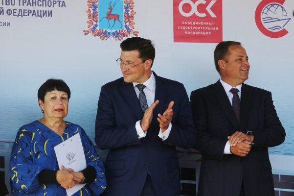 Глеб Никитин принял участие в спуске круизного лайнера «Мустай Карим»